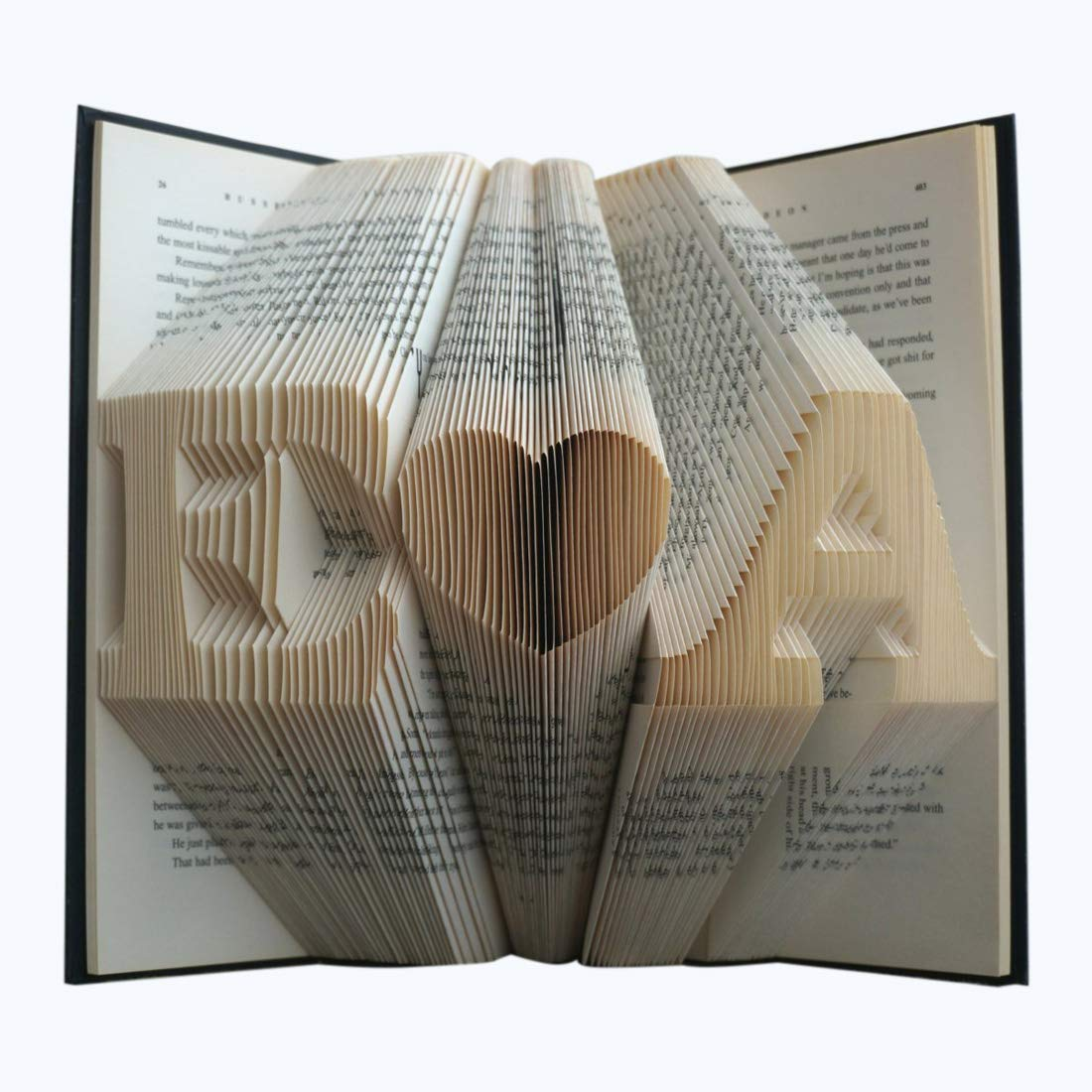 Handcrafted Folded Book Art Gift