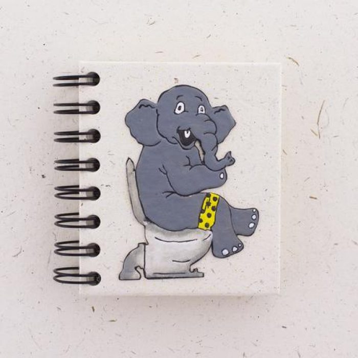 Recycled Elephant Poop To Paper Notebook