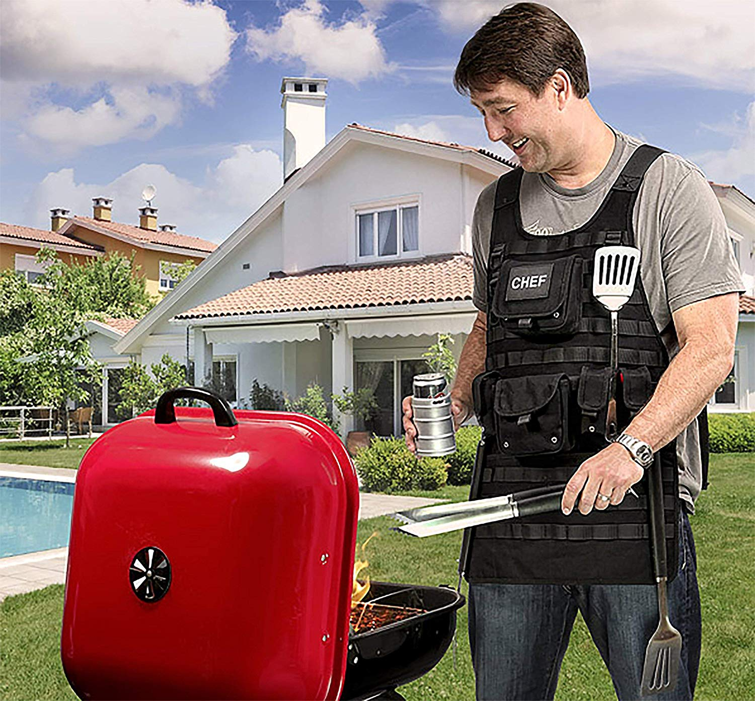 Tactical Grilling Apron & MOLLE Gear All Grill Sergeants Will Love!