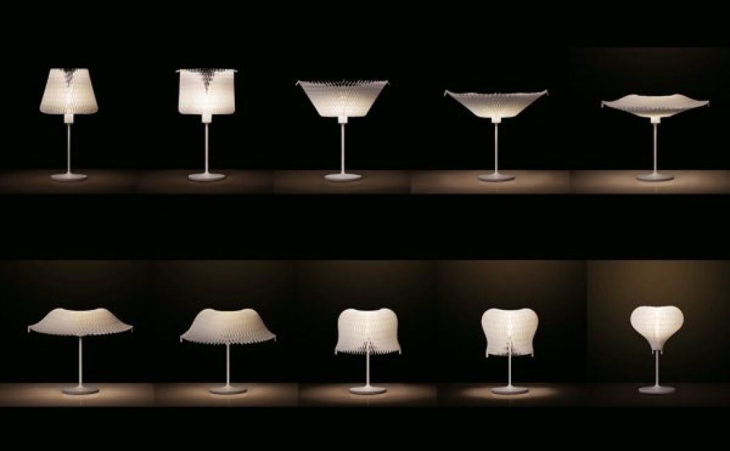 Transformable Kinetic Lamp With Flexible Lamp Shade
