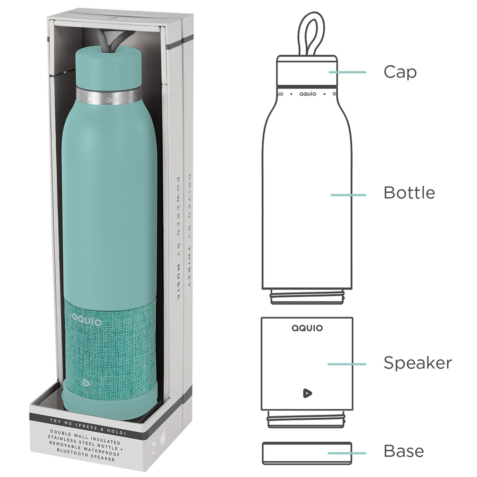 Insulated Water Bottle Bluetooth Speaker
