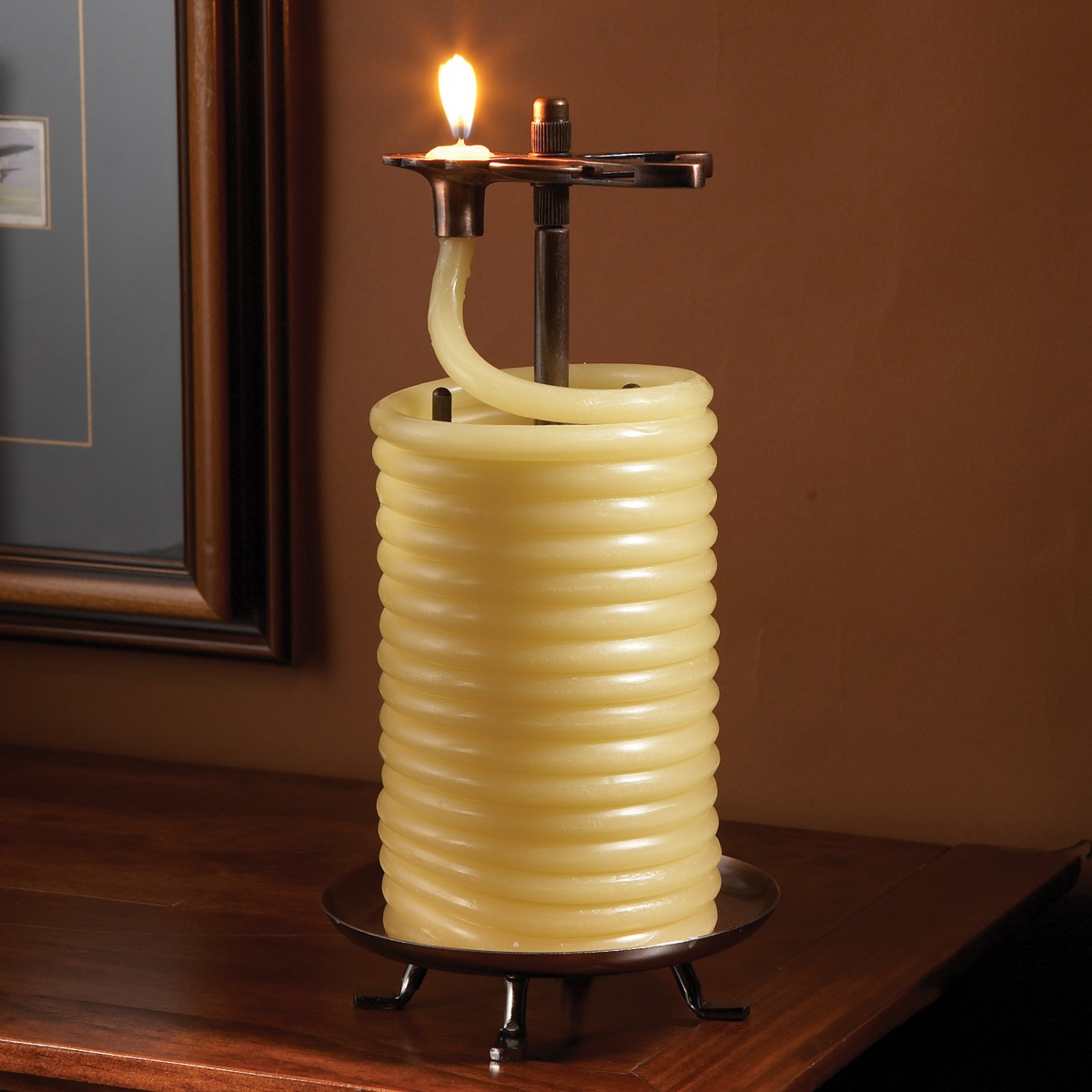 self extinguishing coil candle