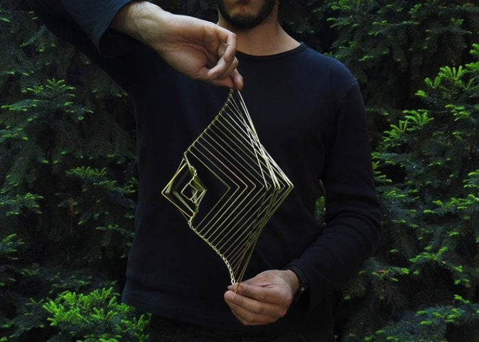 Square Wave Spinner is a The Mesmerizing Kinetic Wind Spinner
