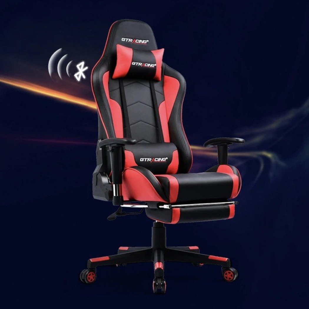 Gaming Chairs With Speakers and Footrest