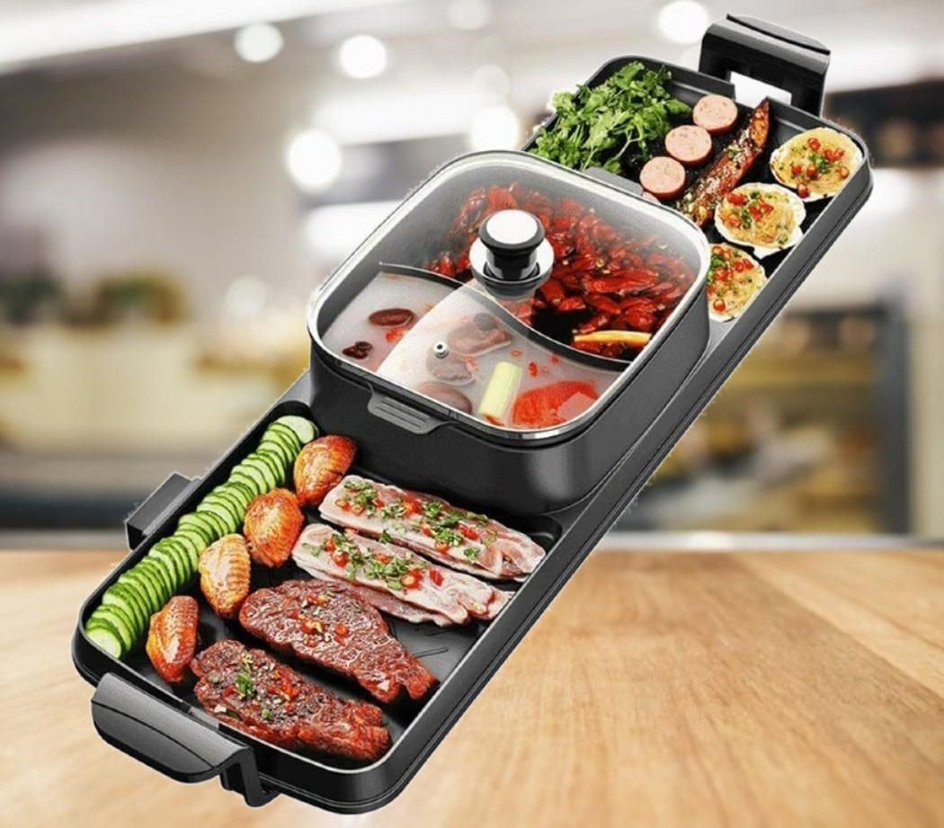 3 in 1 Hot Pot and Grill To BBQ And Shabu