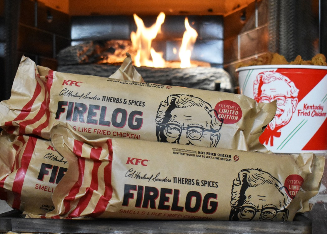 KFC Firelog Smells Of The Famous Chicken Scented 11 Herbs and Spices