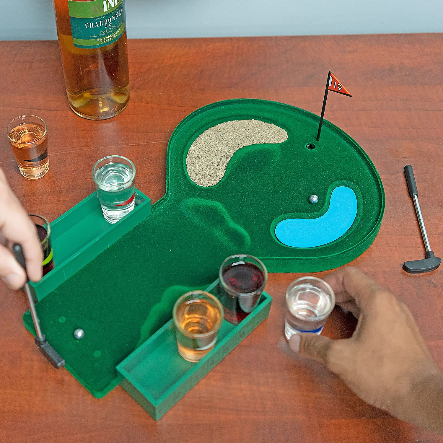 This Golf Drinking Game With Shot Glasses Will Challenge Your Putting Accuracy