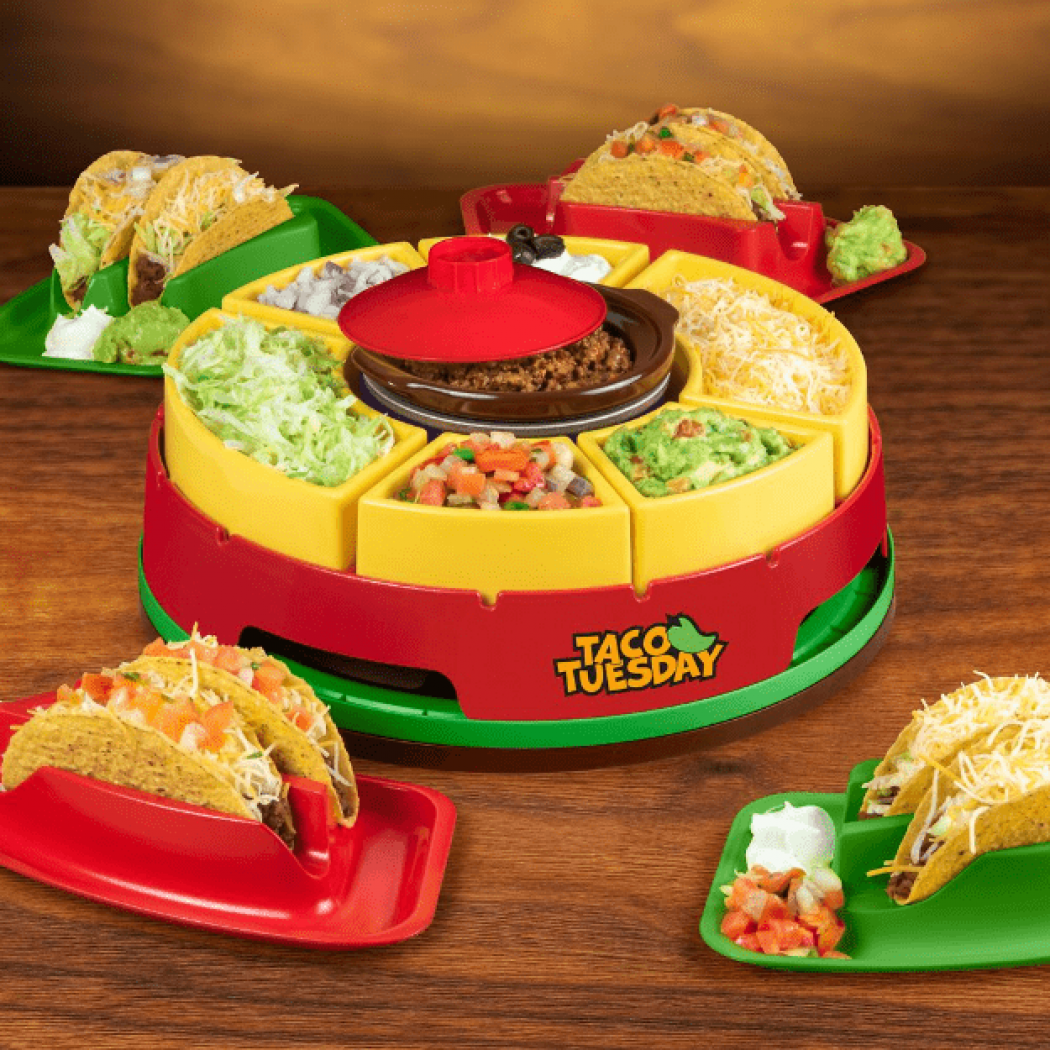 Taco Tuesday Lazy Susan Taco Bar Satisfies the Crunchie Munchies