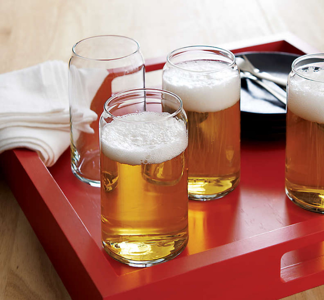 16 oz Beer Can Glass Set of 4